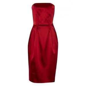 philosophy Alberta Ferretti red dress 8 AS IS